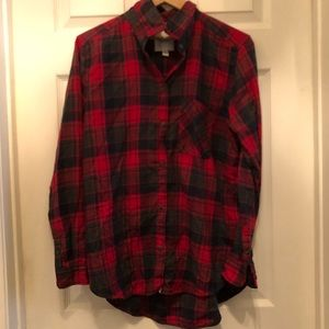 💕American eagle boyfriend fit flannel plaid shirt